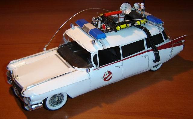 ghostbusters car paper model papercraft models papercraft. Black Bedroom Furniture Sets. Home Design Ideas