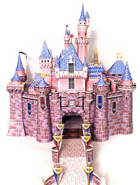 Sleeping Beauty Castle Paper Model