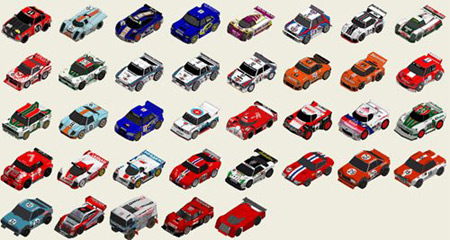 Miniature-race-car