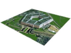 Papercraft building 3D del edificio del Pentágono en Estados Unidos. Manualidades a Raudales.